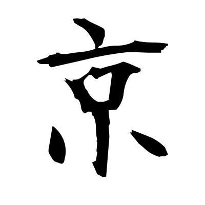 京 (capital) kanji