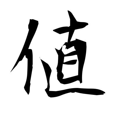 値 (price) kanji